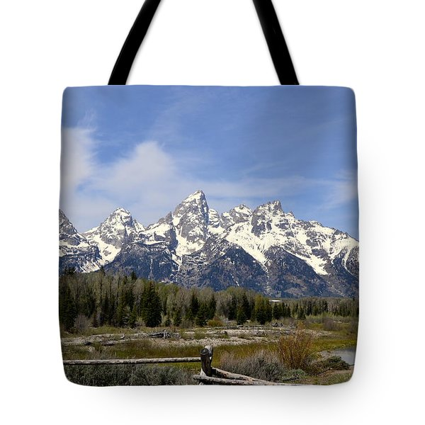 Tote Bag featuring the photograph Teton Majesty by Dorrene BrownButterfield