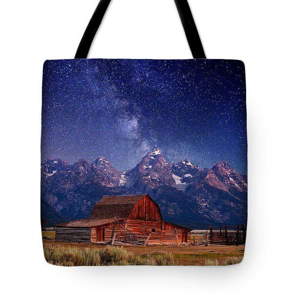 Teton Nights Tote Bag
