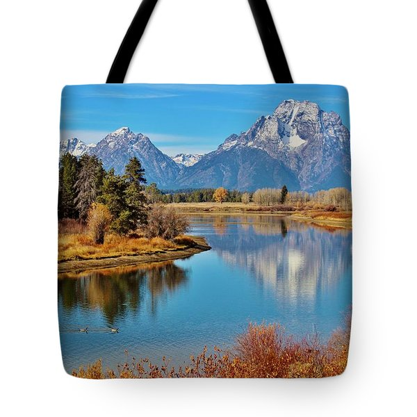 Tote Bag featuring the photograph Teton Tranquility by Benjamin Yeager
