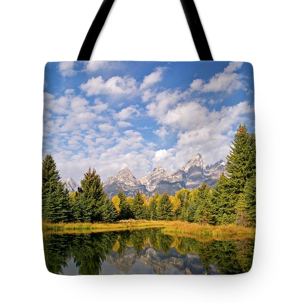Teton Reflections Tote Bag by Alex Cassels