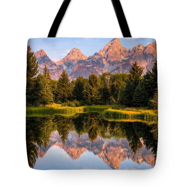 Teton Sunrise Tote Bag by Chris Austin