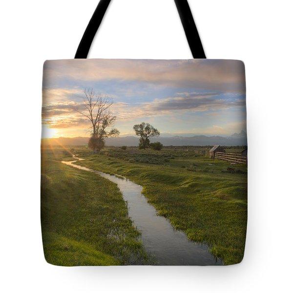 Teton Valley Morning Tote Bag