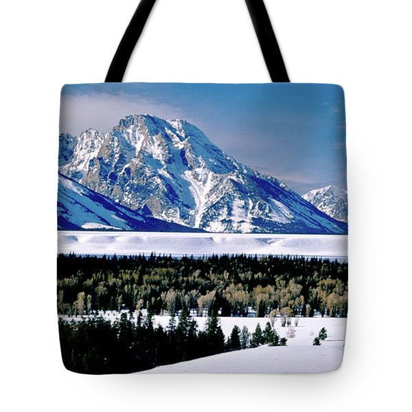 Teton Valley Winter Grand Teton National Park Tote Bag by Ed  Riche