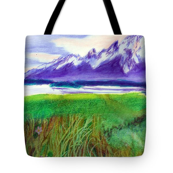Teton View Tote Bag