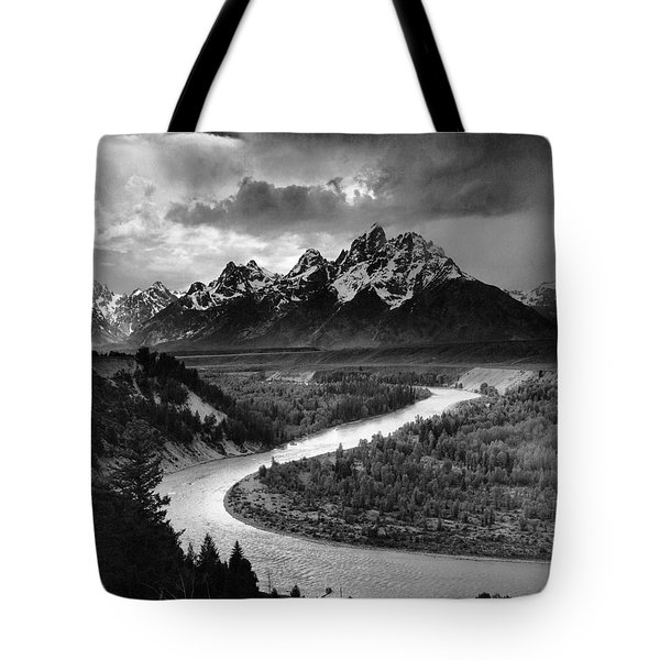 Tetons And The Snake River Tote Bag