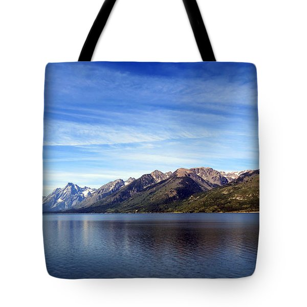 Tetons By The Lake Tote Bag
