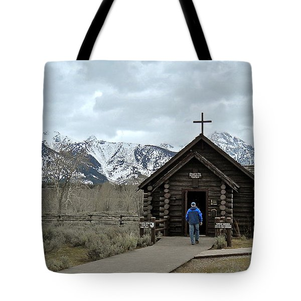 Tetons Chapel Of The Transfiguration Tote Bag