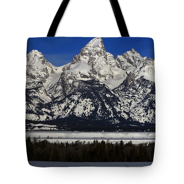 Tetons From Glacier View Overlook Tote Bag