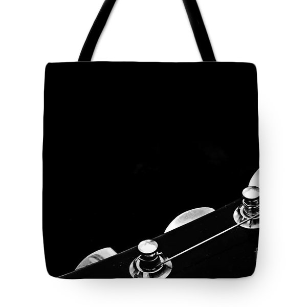 Tetraptych - Head Stock With Red Pick - Panel 1 Of 4 - Guitar - Music Tote Bag