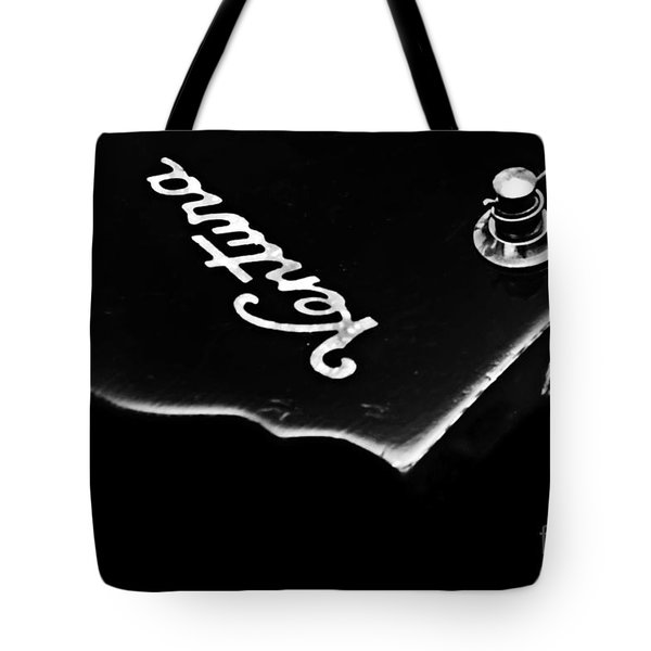 Tetraptych - Head Stock With Red Pick - Panel 3 Of 4 - Guitar - Music Tote Bag