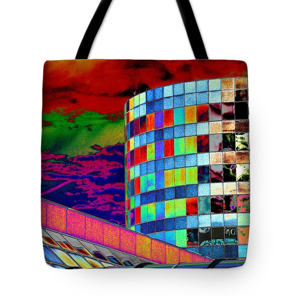 Tote Bag featuring the photograph Tetris Clouds by Christiane Hellner-OBrien