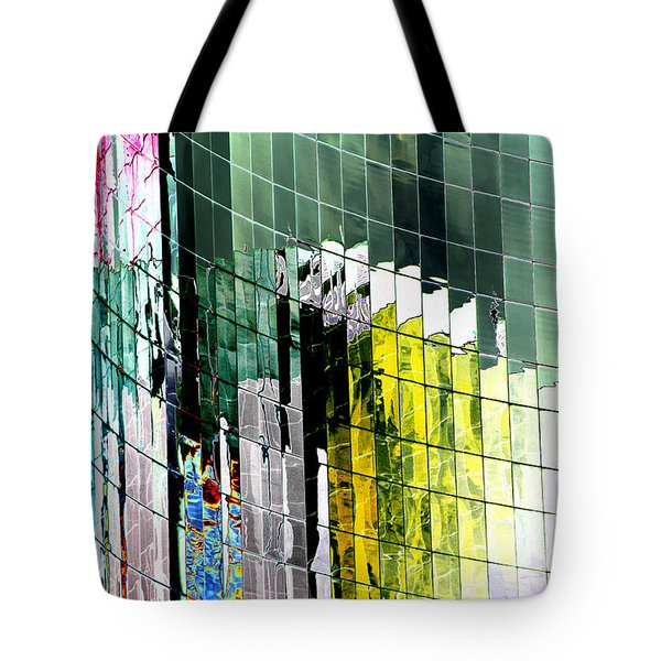 Tetris Sunset Tote Bag