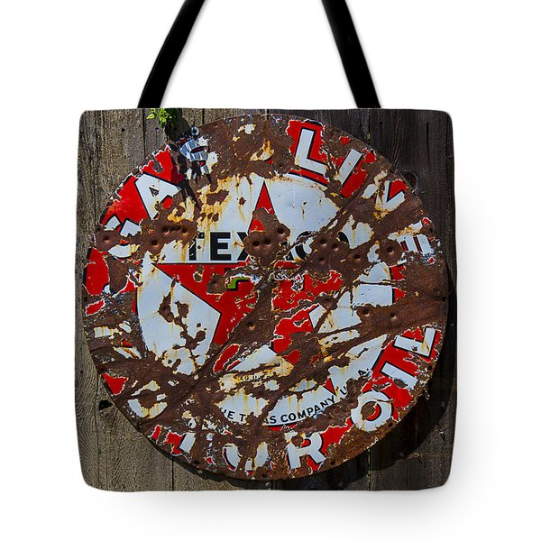 Texaco Sign Tote Bag by Garry Gay