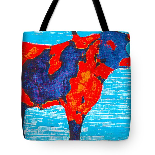 Texan Longhorn Tote Bag by Robert Margetts