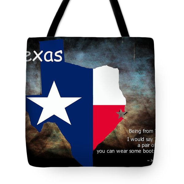 Jensen Ackles Texas Quote Tote Bag