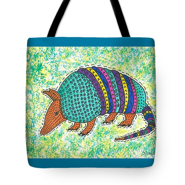 Tote Bag featuring the painting Texas Armadillo by Susie Weber
