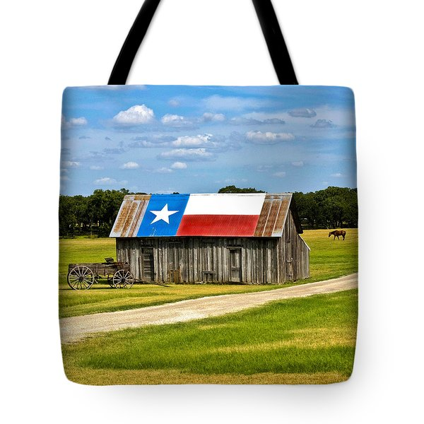 Texas Barn Flag Tote Bag
