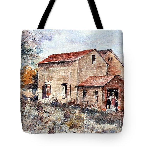 Texas Barn Tote Bag