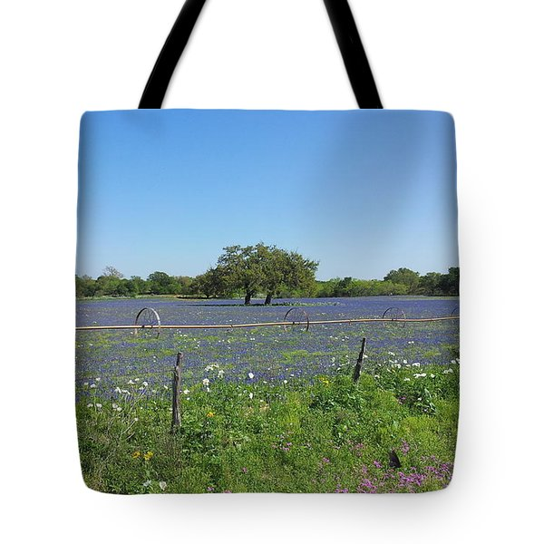 Texas Blue Bonnets Tote Bag by Shawn Marlow