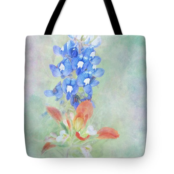 Texas Bluebonnet And Indian Paintbrush Tote Bag