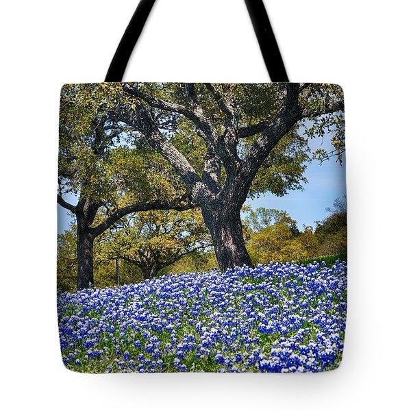 Texas Bluebonnet Hill Tote Bag
