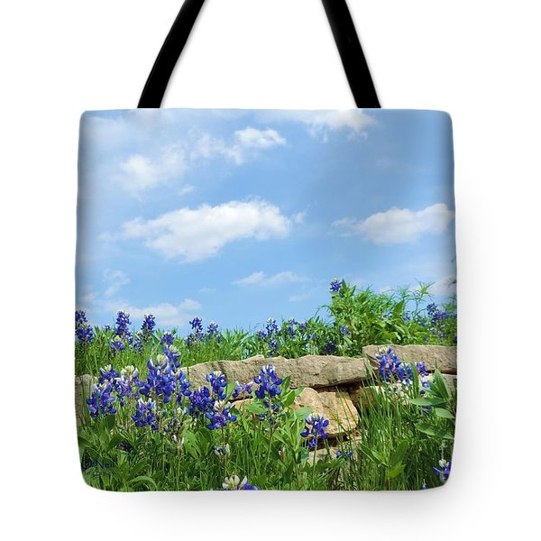 Texas Bluebonnets 08 Tote Bag