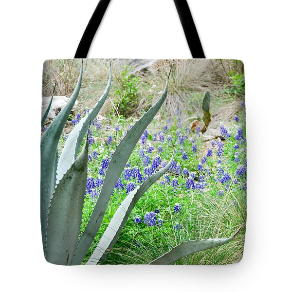 Texas Bluebonnets Tote Bag by Cheryl McClure