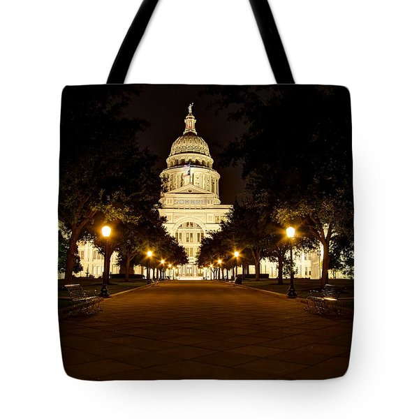 Texas Capitol At Night Tote Bag by Dave Files