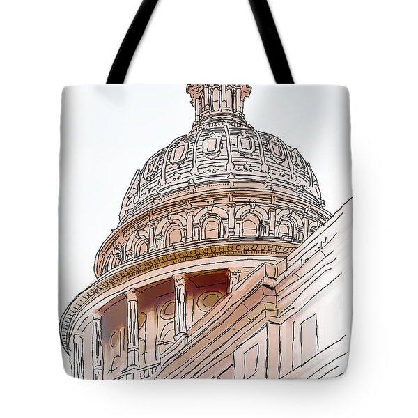 Texas Capitol Sketch Tote Bag