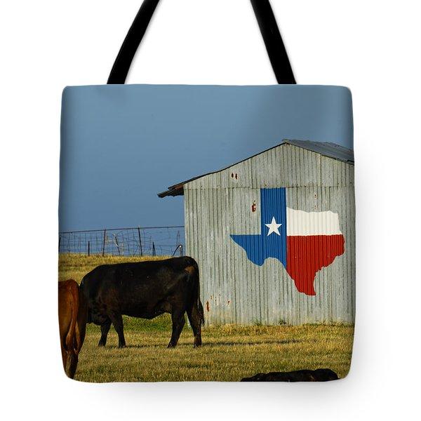 Texas Farm With Texas Logo Tote Bag