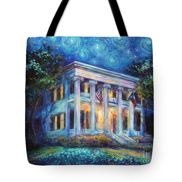 Texas Governor Mansion Painting Tote Bag by Svetlana Novikova