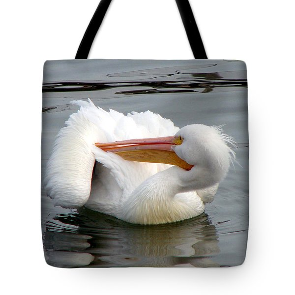 Tote Bag featuring the photograph Texas Gulf Coast White Pelican by Linda Cox