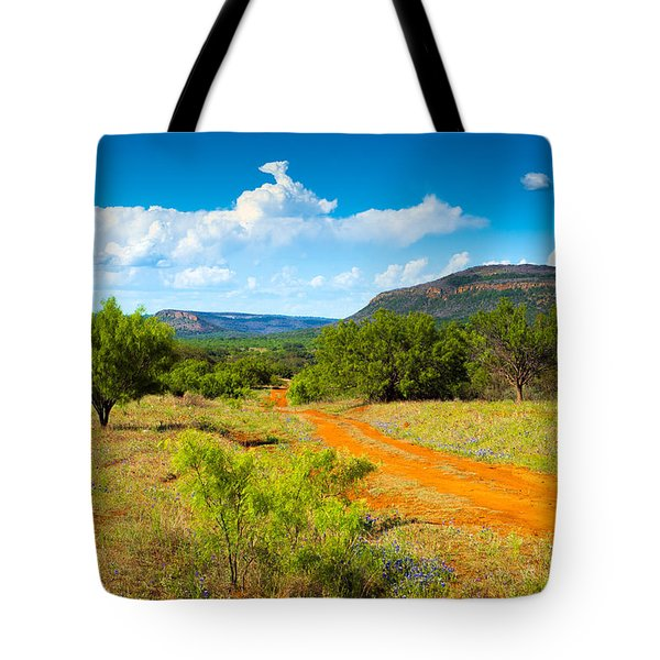 Texas Hill Country Red Dirt Road Tote Bag by Darryl Dalton