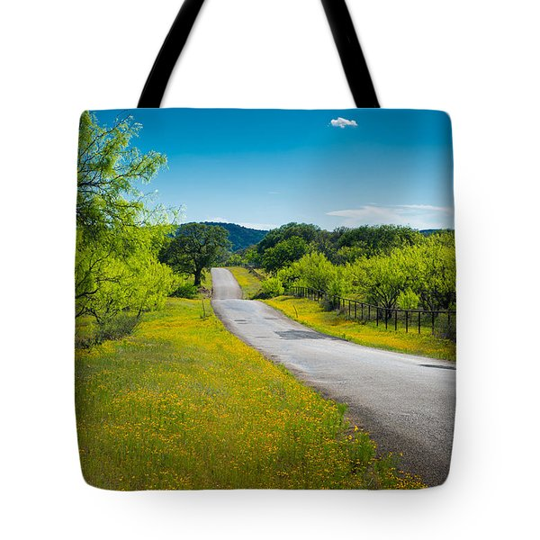 Texas Hill Country Road Tote Bag by Darryl Dalton