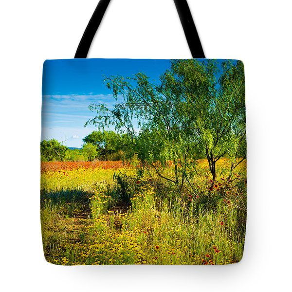 Texas Hill Country Wildflowers Tote Bag by Darryl Dalton