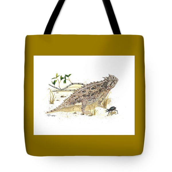 Texas Horned Lizard Tote Bag