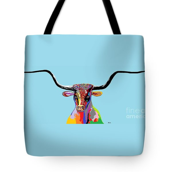 Texas Longhorn Tote Bag by Eloise Schneider