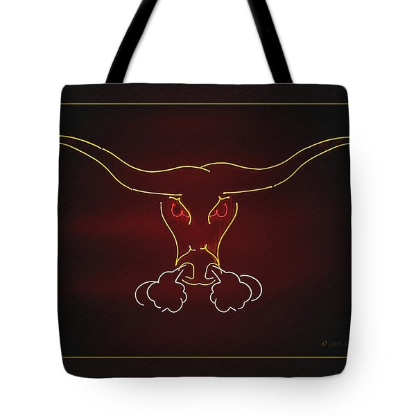 Texas Longhorn Photoart 1 Tote Bag