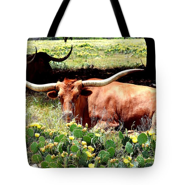 Texas Longhorns 2 Tote Bag by Linda Cox