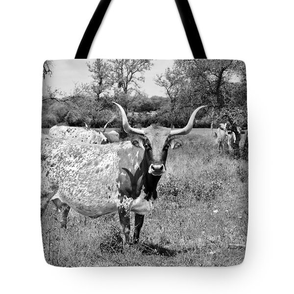 Texas Longhorns A Texas Icon Tote Bag by Christine Till