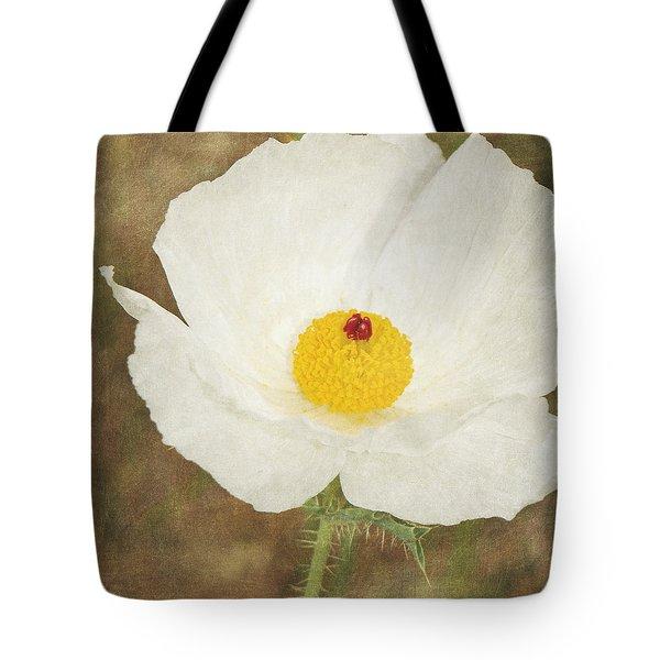 Texas Prickly Poppy Wildflower Tote Bag