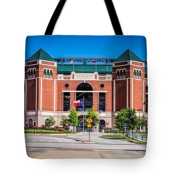 Globe Life Park In Arlington Tote Bag