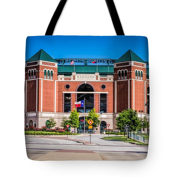 Tote Bag featuring the photograph Globe Life Park In Arlington by Robert Bellomy