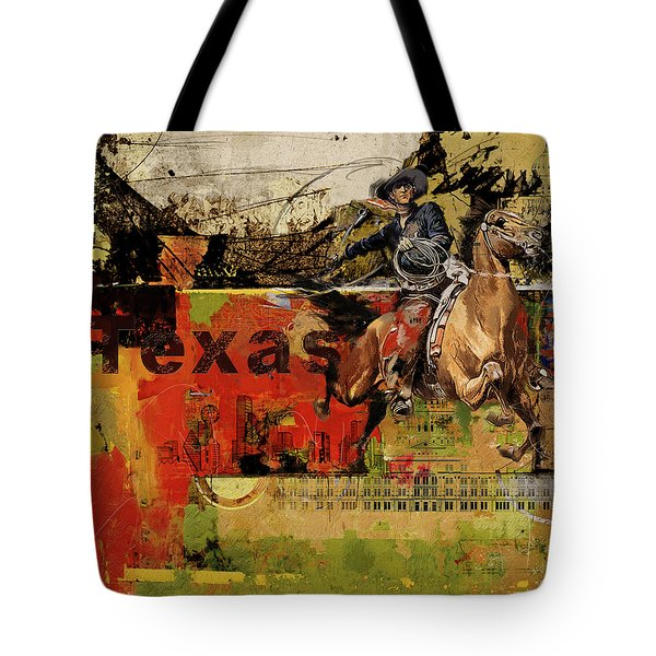 Texas Rodeo Tote Bag
