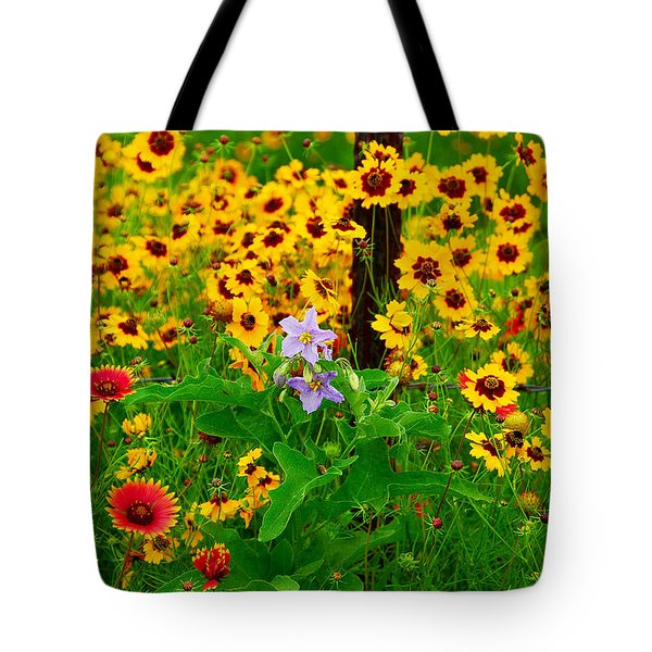 Texas Spring Delight Tote Bag by Lynn Bauer