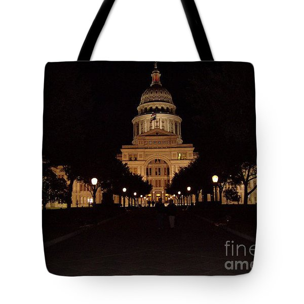 Tote Bag featuring the photograph Texas State Capital by John Telfer