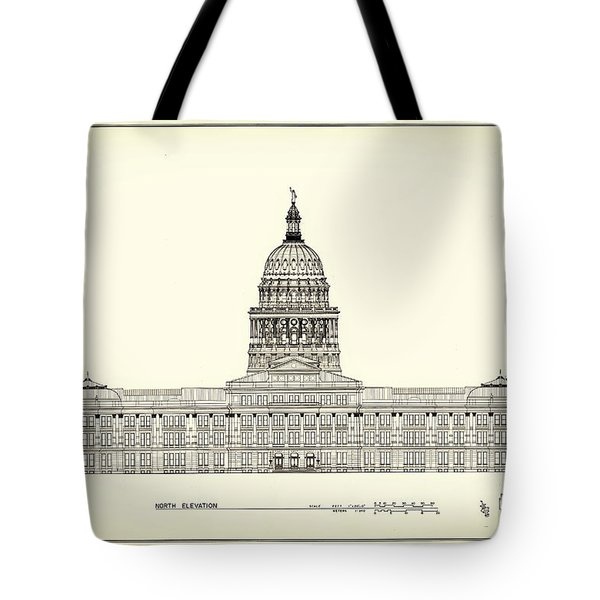 Texas State Capitol Architectural Design Tote Bag