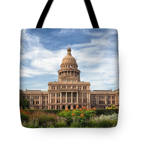 Texas State Capitol II Tote Bag by Joan Carroll