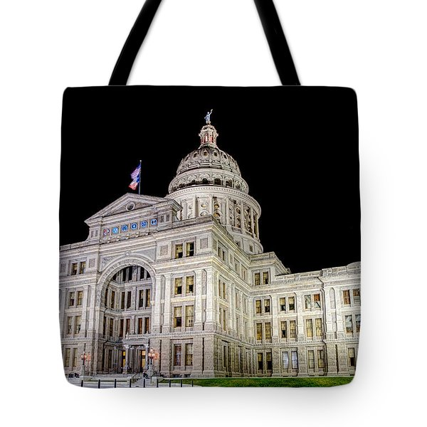 Texas State Capitol Tote Bag by Tim Stanley