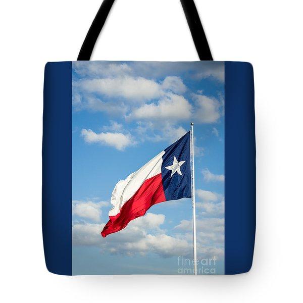 Texas State Flag Waving Tote Bag